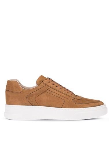 Deery Hakiki Deri  Sneakers Taba